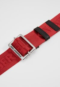 KARL LAGERFELD - LOGO BELT - Riem - red