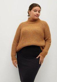 Violeta by Mango - CHOP - A-line skirt - black - 3