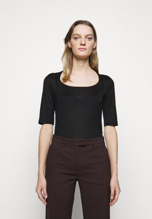 PAOLINA - Basic T-shirt - black