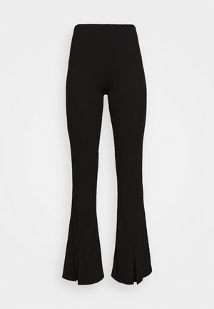 BECKY LOUNGE FLARE TROUSERS - Trousers - black