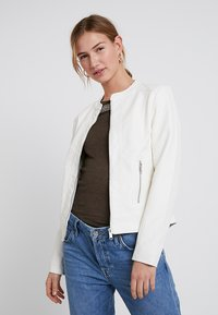 b.young - ACOM JACKET - Faux leather jacket - off white - 0