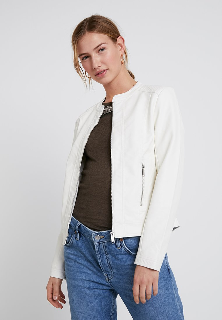 b.young - ACOM JACKET - Faux leather jacket - off white