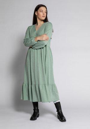Maxi dress - smaragdgrün-melange