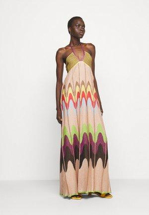 ABITO LUNGOSENZA MANICHE - Pletené šaty - multicoloured