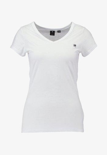 EYBEN SLIM - Basic T-shirt - white