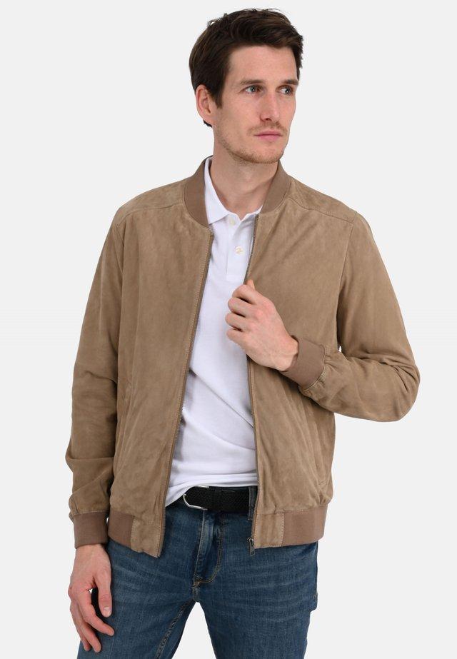 ROBBIE - Leather jacket - beige