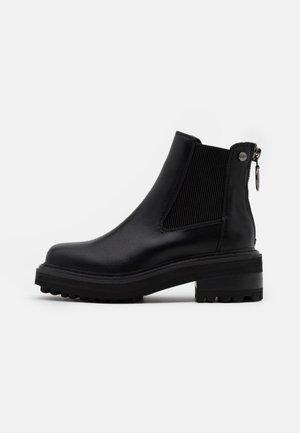 QUINTIA - Platform ankle boots - black