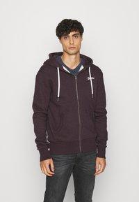 Superdry - ORANGE LABEL - Zip-up hoodie - autumn blackberry marl - 0