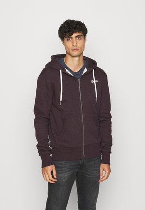 ORANGE LABEL - veste en sweat zippée - autumn blackberry marl