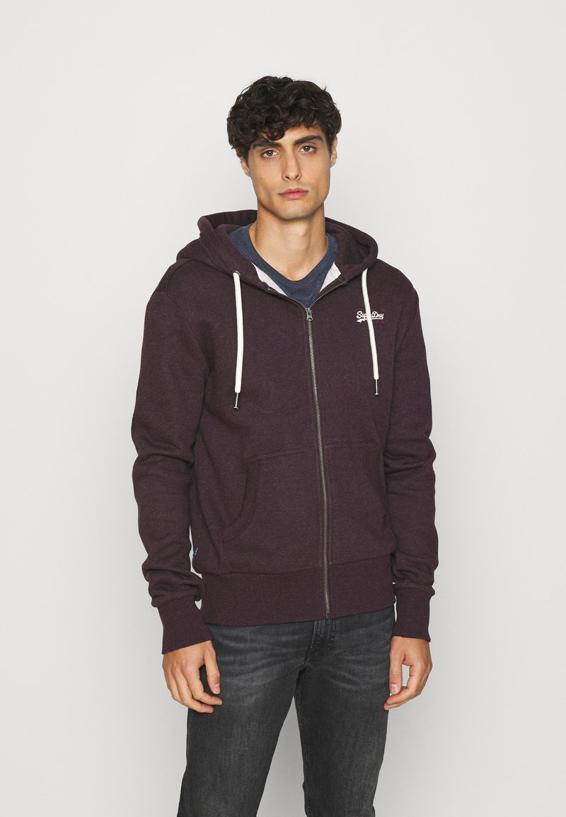 Superdry - ORANGE LABEL - Zip-up hoodie - autumn blackberry marl