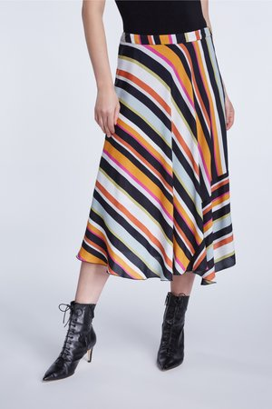 A-line skirt - black yellow