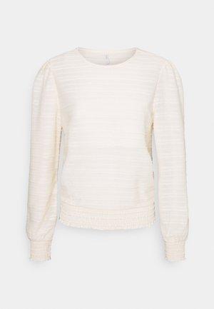 ONLKELLY SHORT - Maglietta a manica lunga - ecru