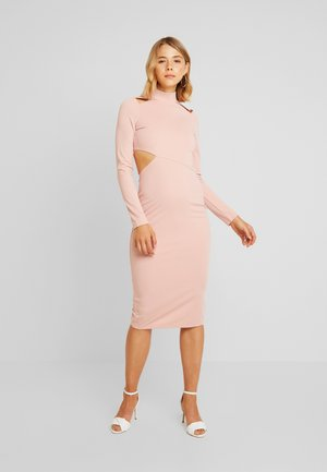 MULTI CUT OUT BODYCON DRESS - Pouzdrové šaty - pink