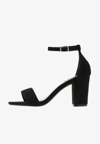 BLOCK MID HEEL - Sandals - black