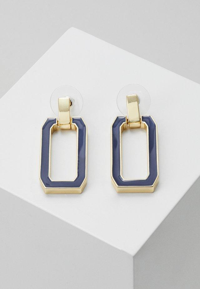 ALLEY EAR - Orecchini - gold-coloured/dark blue
