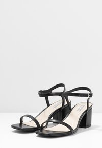 Nly by Nelly - SQUARE BLOCK HEEL  - Sandály - black - 4