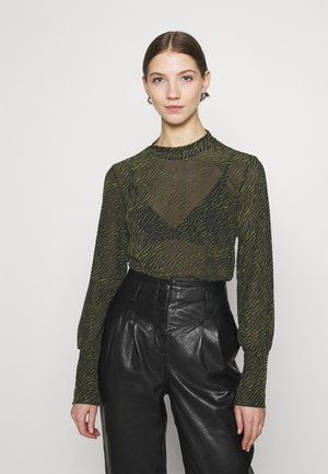 VITAFT  - Blouse - black/ivy green