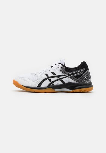 GEL ROCKET 9 - Volleyball shoes - white/black