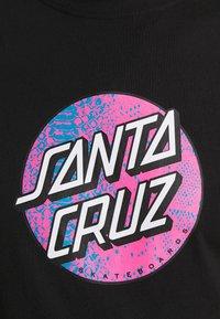 Santa Cruz - SCALES DOT UNISEX - Print T-shirt - black - 5