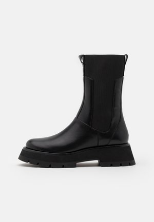KATE LUG SOLE COMBAT BOOT - Plateaustøvler - black