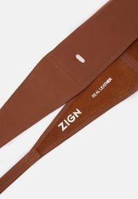 Zign - LEATHER - Waist belt - cognac - 1