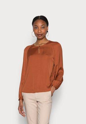 BLOUSE LONG SLEEVE VOLUMINOUS SLEEVES - Long sleeved top - rustic orange