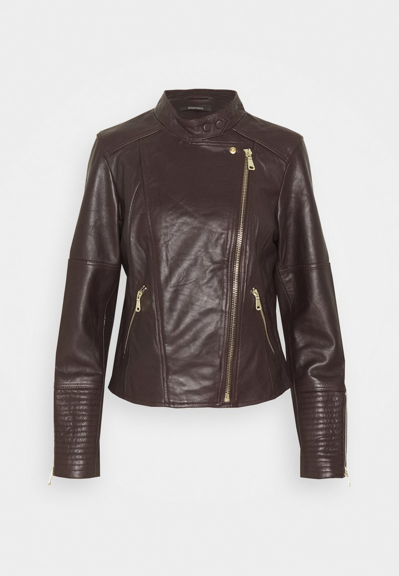 Esprit Collection - Kožená bunda - bordeaux red