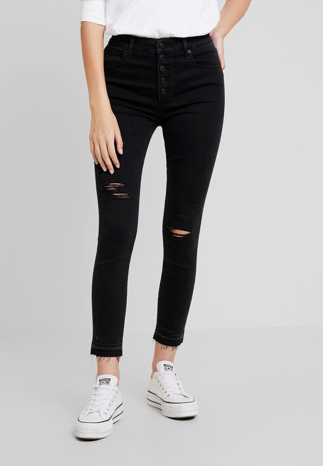 HIGH RISE ANKLE - Skinny džíny - black