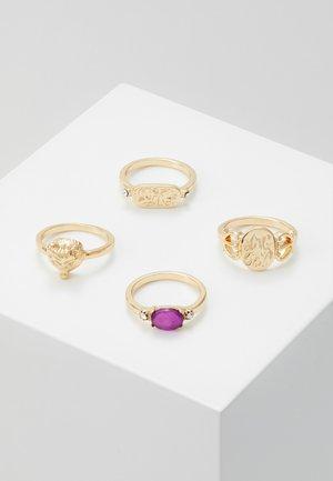 PCMADELINE RING 4 PACK - Prsten - gold-coloured/purple
