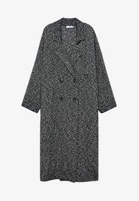 Mango - BONE - Classic coat - schwarz - 6
