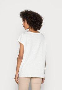 Esprit - BOAT NECK - Print T-shirt - off white - 2