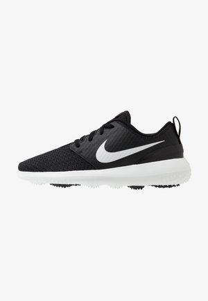 ROSHE - Golf shoes - black/metallic white/white
