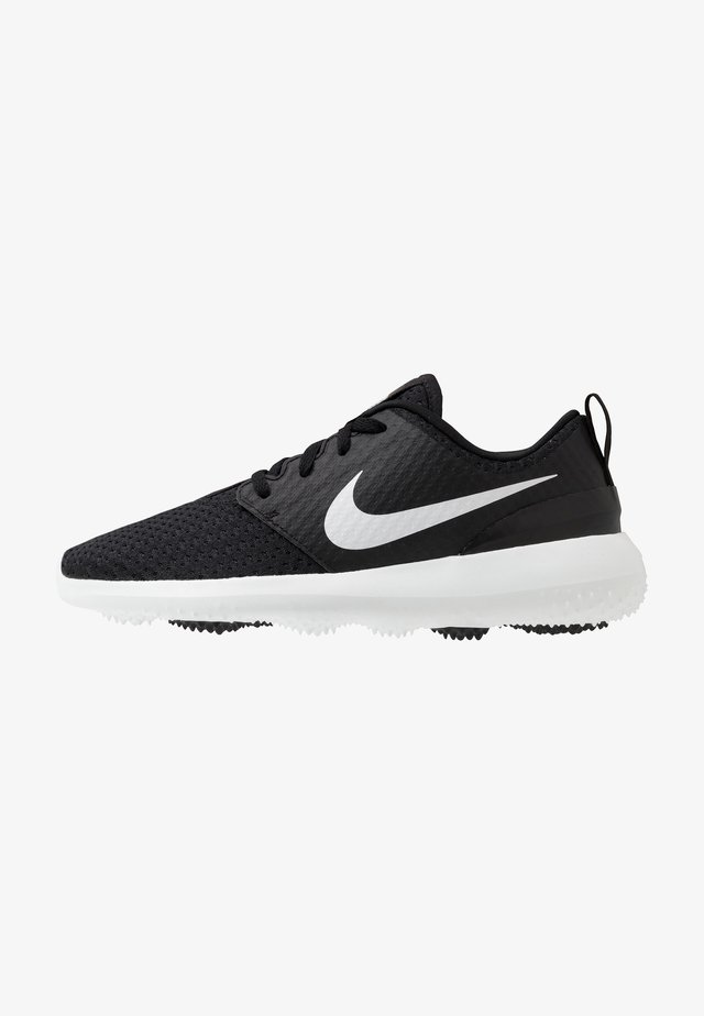 ROSHE - Scarpe da golf - black/metallic white/white