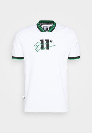 BASEBALL COLLAR - Print T-shirt - white