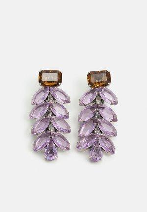 BEADED EARRINGS - Boucles d'oreilles - lilac
