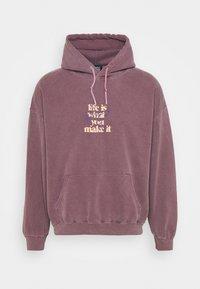 BDG Urban Outfitters - LIFE IS WHAT YOU MAKE IT HOODIE UNISEX - Sweatshirt - purple - 0