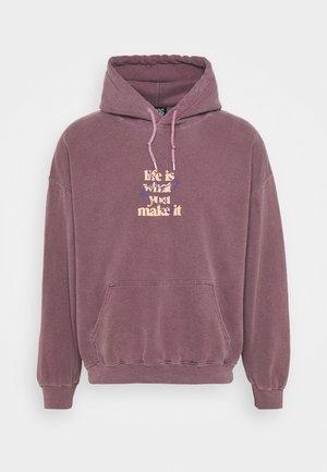 LIFE IS WHAT YOU MAKE IT HOODIE UNISEX - Sweatshirt - purple