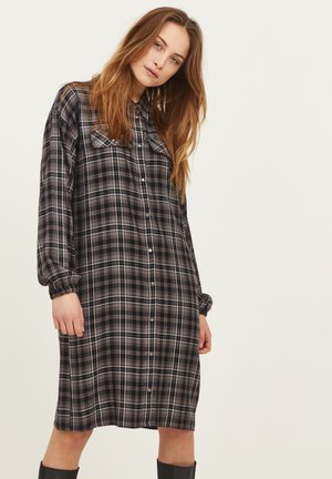 SOPHIA  - Shirt dress - dark grey check