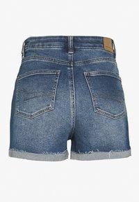 American Eagle - CURVY MOM  - Denim shorts - indigo nightfall - 1