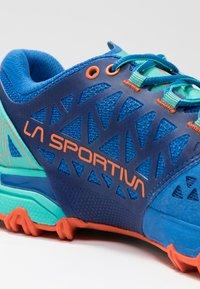 La Sportiva - BUSHIDO II WOMAN - Trail running shoes - marine blue/aqua - 5