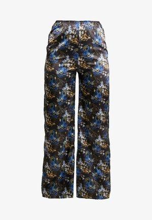 ORIENTAL PRINT TROUSERS - Spodnie materiałowe - black