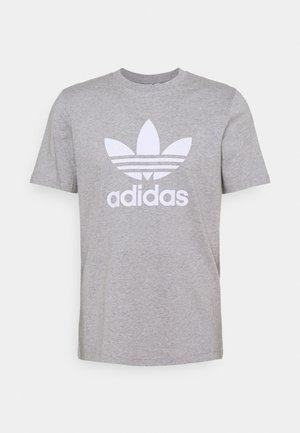 TREFOIL T-SHIRT ORIGINALS ADICOLOR - Print T-shirt - medium grey heather/white