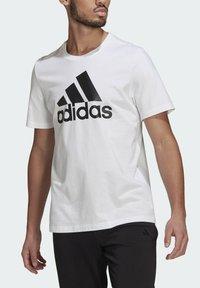 adidas Performance - ESSENTIALS BIG LOGO T-SHIRT - Print T-shirt - white - 3