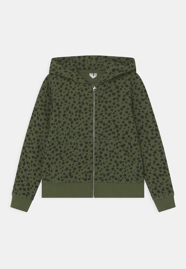 HOODIE - Zip-up hoodie - green