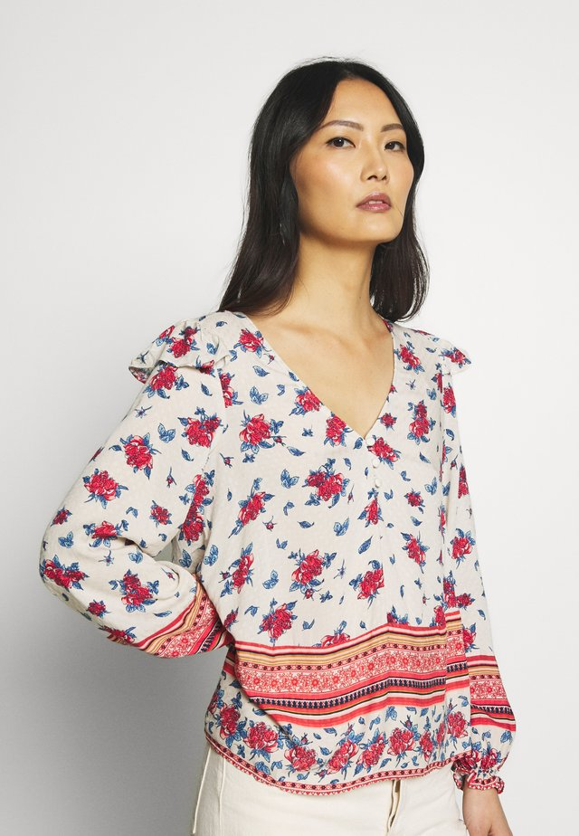BLUSA FLOR FOLK - Blouse - red/white
