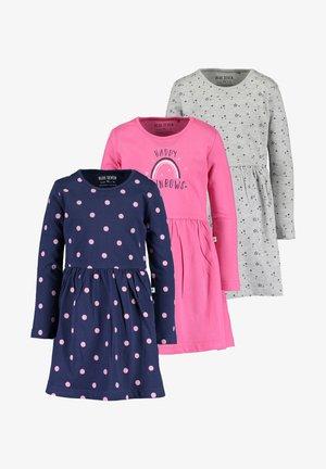 BASICS - Day dress -  pink dk  blau  nebel mel