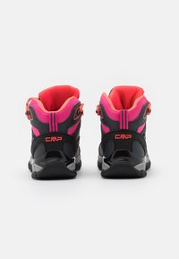 CMP - KIDS SHEDIR MID SHOE WP UNISEX - Hiking shoes - antracite/red fluo - 2