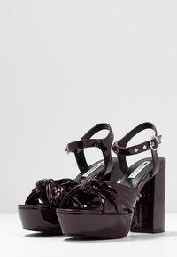 Even&Odd - Sandály na vysokém podpatku - bordeaux - 4