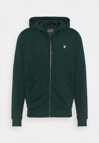 ZIP THROUGH HOODIE - Zip-up sweatshirt - dark green