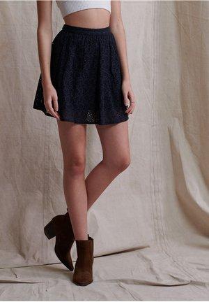BLAIR BRODERIE - A-line skirt - eclipse navy
